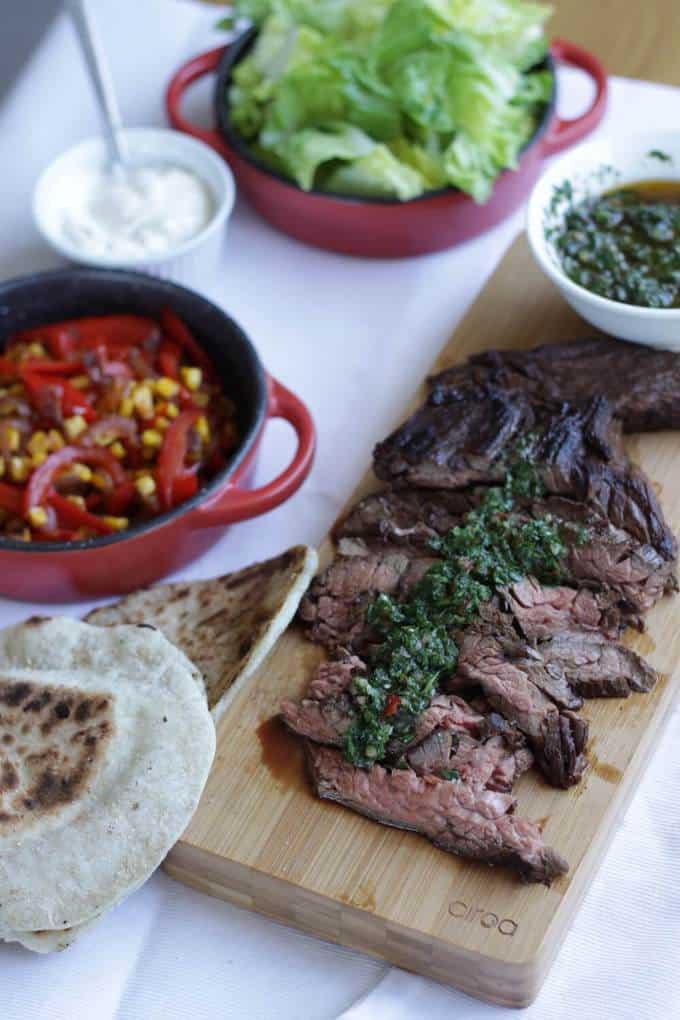 Flank Steak with Chimichurri Sauce