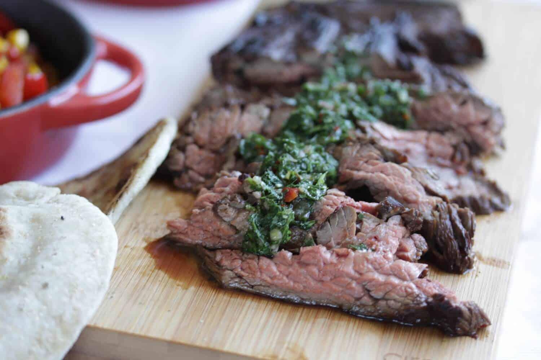 Flank Steak with Chimichurri Sauce | Sugar Salt Magic