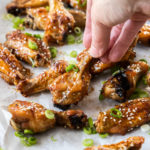 Crispy Honey Soy Chicken Wings by Sugar Salt Magic. Sweet, sticky and lipsmackingly good.