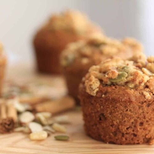 Trail Mix Cinnamon Muffins by Sugar Salt Magic. A healthier version which are tender and moist and all natural.