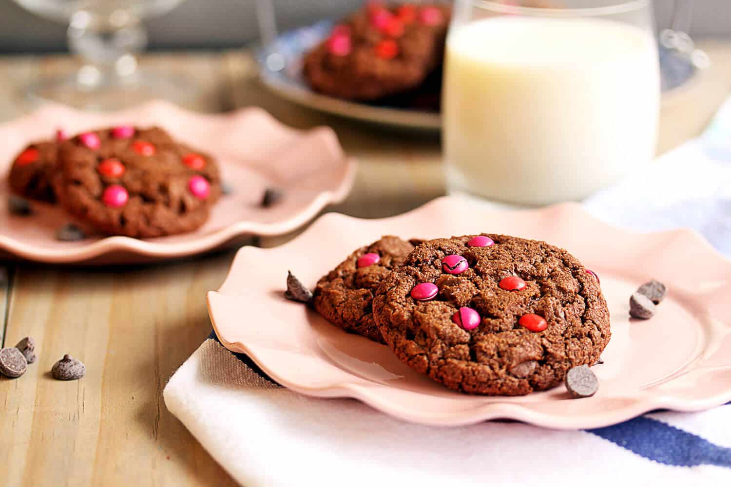 Double Choc Chip Cookies for your valentine
