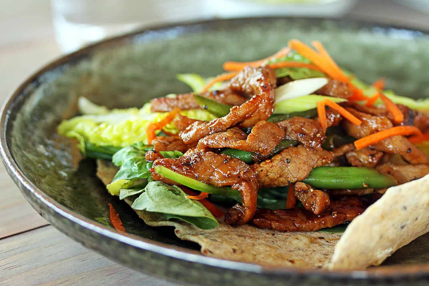 Honey Pepper Pork Wraps by Sugar Salt Magic