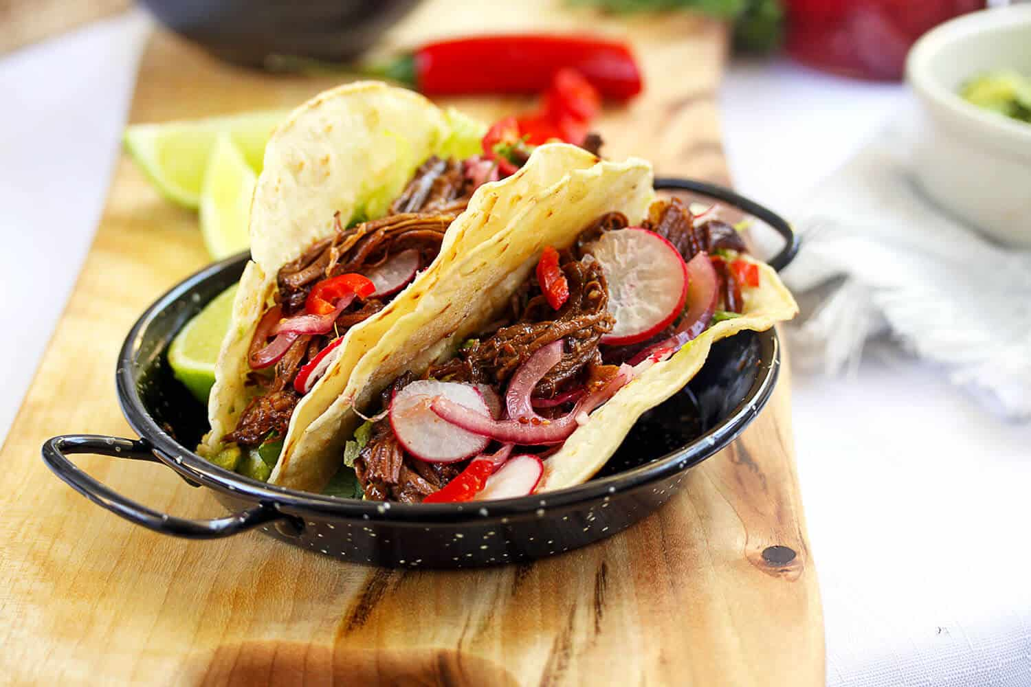 Braised BBQ Beef Short Rib Tacos by Sugar Salt Magic