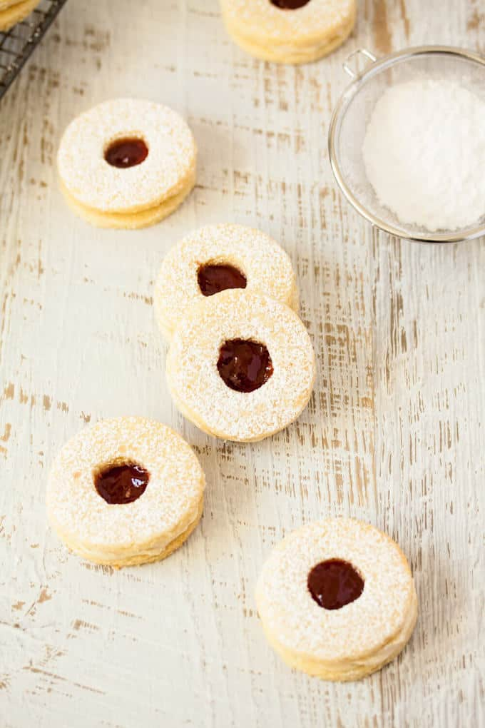 Jam and Coconut Cookies (made in a food processor)