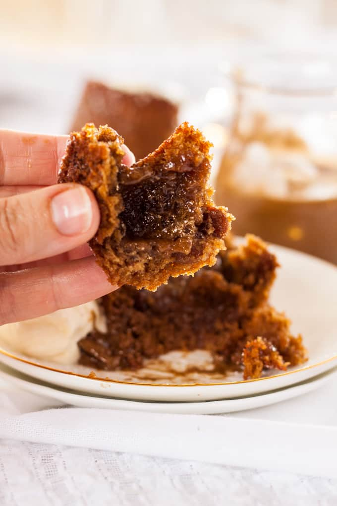 This Mini Molten Lava Cake Recipe is an indulgent treat just perfect for the festive season. Filled with butterscotch 'molten lava', it's a take on a sticky date cake using dried Christmas fruits. #butterscotch #lavacakes #christmasdesserts
