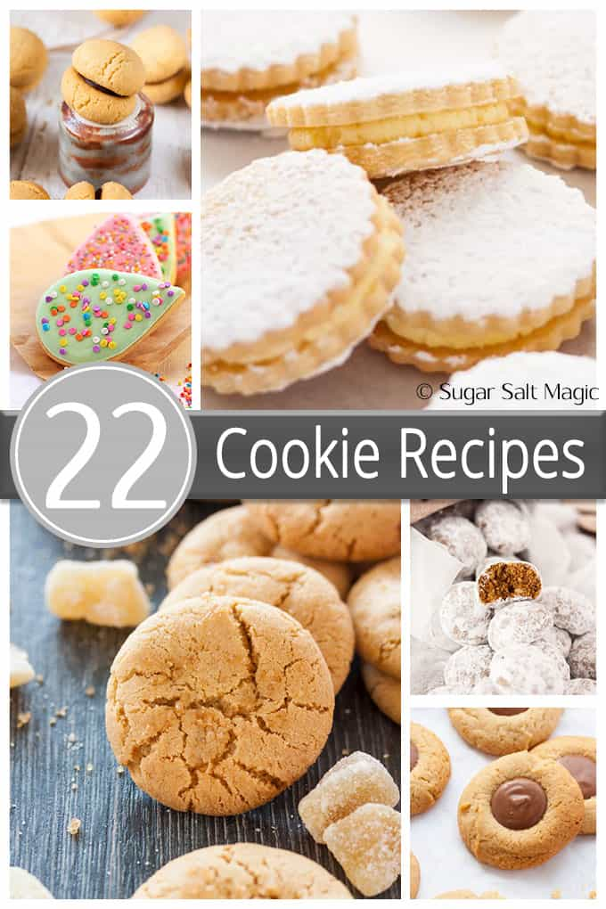 22 Cookie Recipes - from chocolate cookies to shortbread to italian cookies to snowballs.