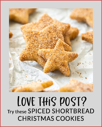 Spiced Christmas Shortbread Stars are the classic shortbread you know and love but coated in your favourite Christmas spices. #christmas #shortbread