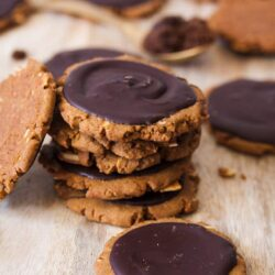 This Almond Muscovado Sugar Cookie recipe is filled with almonds, topped with chocolate and made using muscovado sugar. Crisp on the outside and soft in the centre, this is no plain sugar cookie.