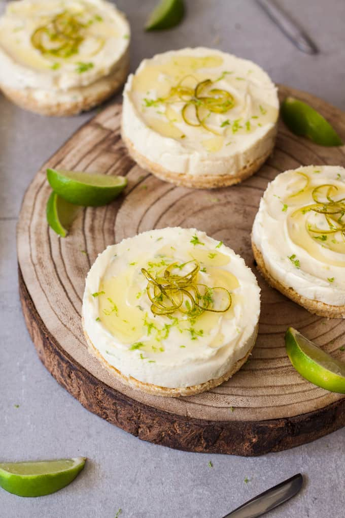 These Lime No Bake Individual Cheesecakes are a serious crowd pleaser. Using an easy lime cheesecake recipe, these no bake cheesecakes take just minutes of effort and can be made ahead of time.