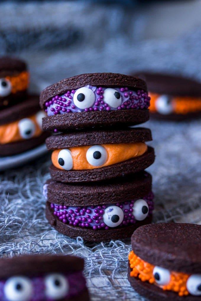 Chocolate Monster Halloween Cookies Sugar Salt Magic
