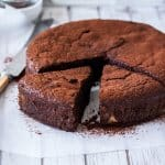 This Flourless Chocolate Hazelnut Cake is a wonderful combination of flourless chocolate cake and finely ground hazelnuts. An accidently gluten free chocolate cake with a wonderful hazelnut flavour.