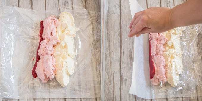 2 photos: How to make 3 tone frosting