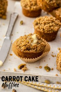 This easy Carrot Cake Muffins recipe is the perfect brunch treat. A few changes to your typical carrot cake ingredients results in soft, moist muffins with a crunchy crumble topping so you can't stop at one.