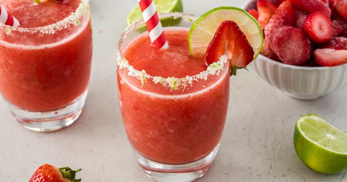 Frozen Moscato Strawberry Daiquiri Recipe Sugar Salt Magic