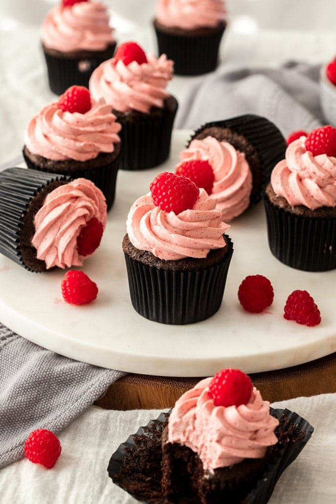 Raspberry Chocolate Cupcakes Sugar Salt Magic