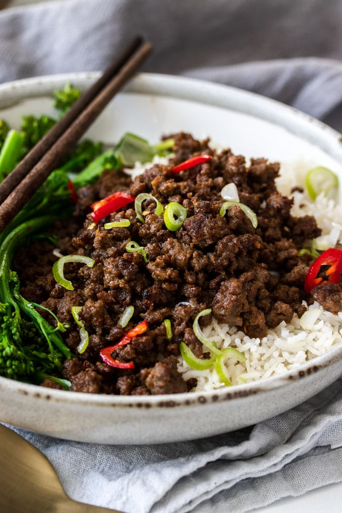 Crispy Asian Chilli Beef Mince Sugar Salt Magic