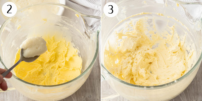 Beating together butter and sugar until creamy.