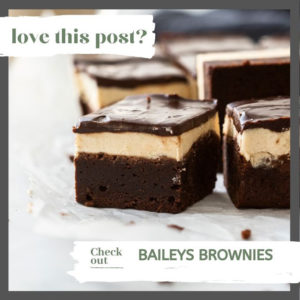 A batch of baileys brownies on a sheet of baking paper.