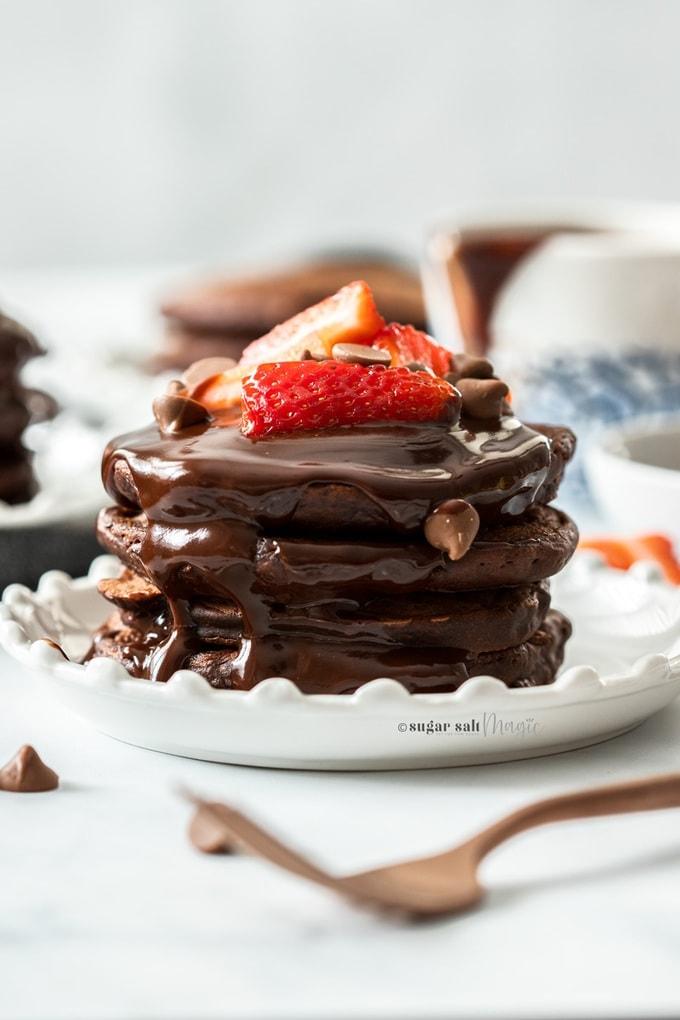Double Chocolate Pancakes Sugar Salt Magic