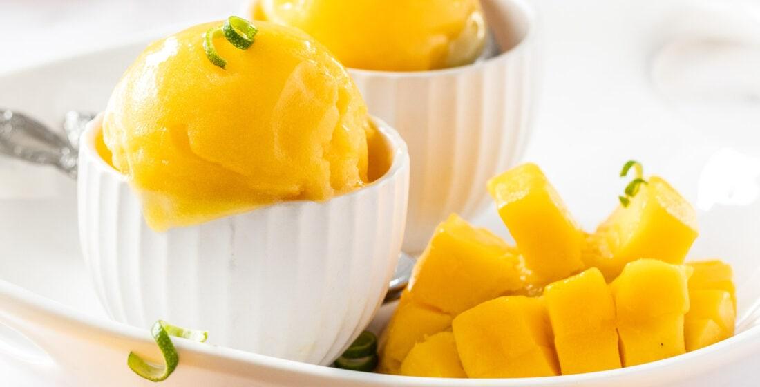 Easy Creamy Mango Sorbet