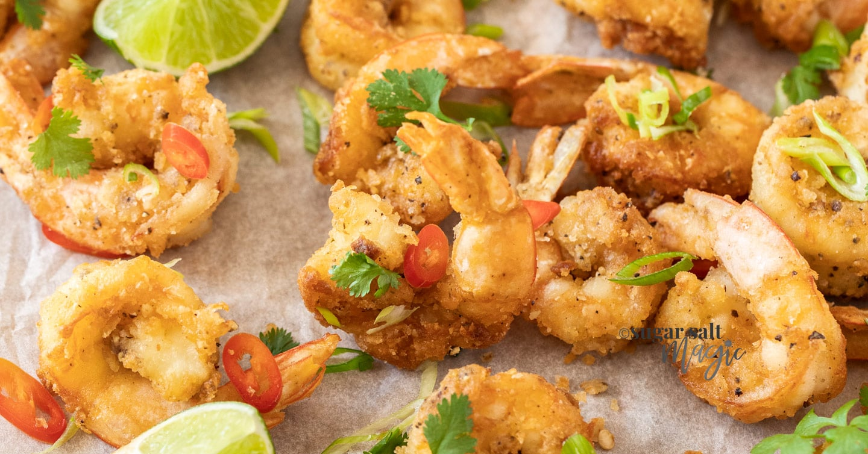 Salt and Pepper Prawns (Shrimp)