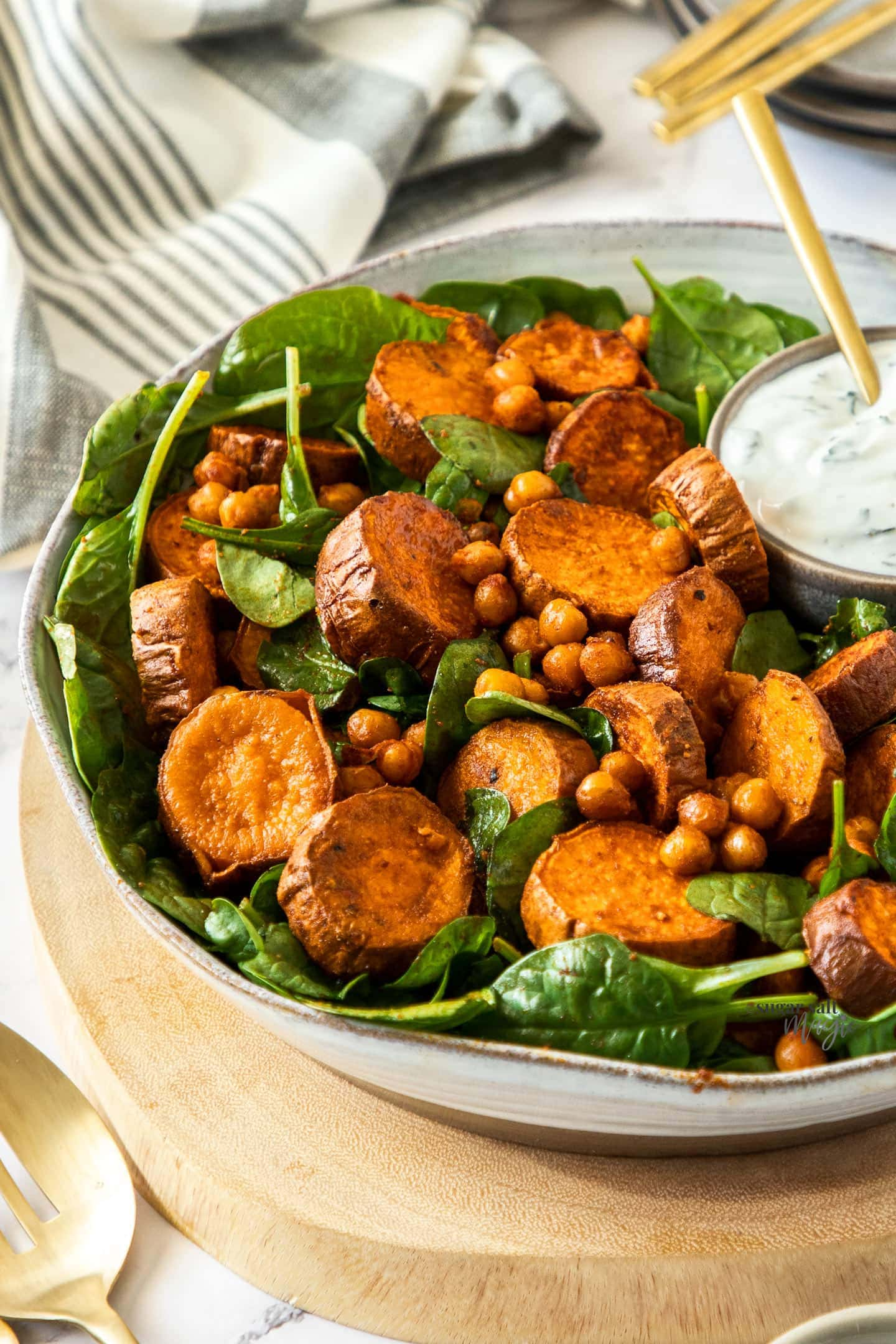 Spiced Roast Sweet Potato Salad Sugar Salt Magic