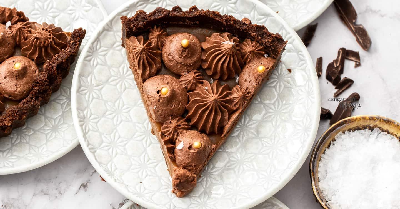 No-Bake Chocolate Salted Caramel Tart