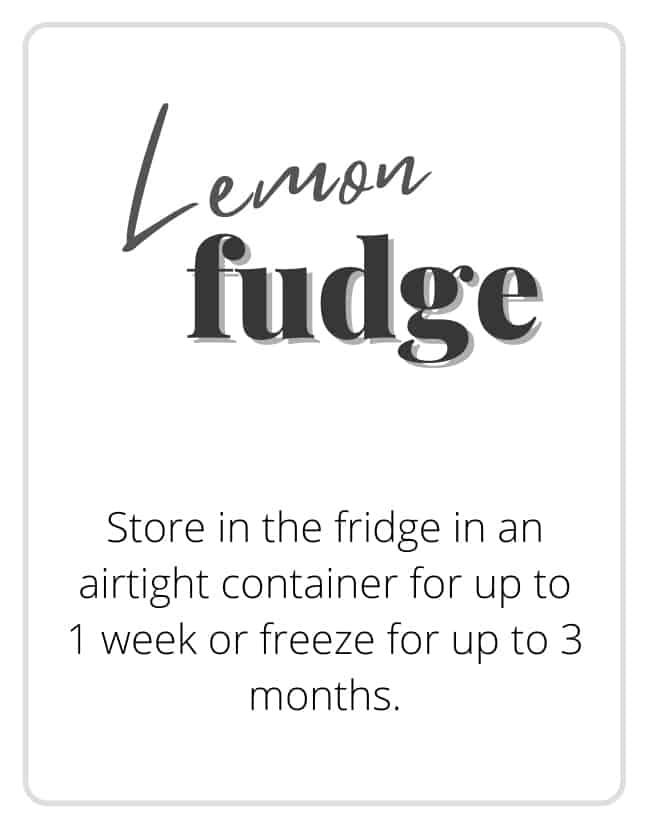 Printable gift tag that says lemon fudge on it.