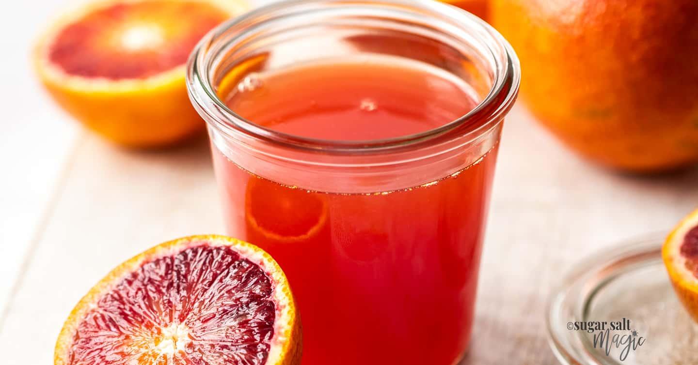 Orange Simple Syrup (Blood Orange Syrup)